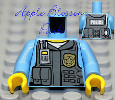 NEW Lego City Police Med Blue MINIFIG TORSO -Male w/Agents Tactical Vest & Badge