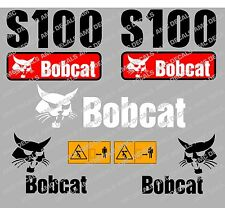 BOBCAT S100 SET DI ADESIVI DECAL DI SKID STEER
