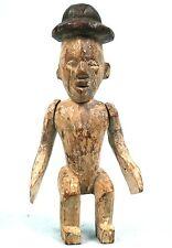 Art Africain - Fétiche de type Marionnette Ibibio aux Bras Articulés - 22 Cms ++