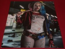 MARGOT ROBBIE SIGNED SUICIDE SQUAD HOT HARLEY QUINN 11X14 PHOTO AUTOGRAPH COA
