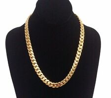 "20"" 14k Gold Plated Silver Cuban Link Chain, 11 mm 140 grams"