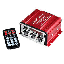 Kinter MA 600 2CH Digital Power Amplifier Remote FM for Car Motorcycle MP3 New