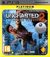 UNCHARTED 2 AMONG THIEVES PS3 Game (PRE OWNED) (USED) Excellent Condition