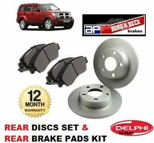 FOR DODGE NITRO 2.8DT 2.8TD 3.7i  2007-> NEW REAR BRAKE DISCS SET + DISC PAD KIT