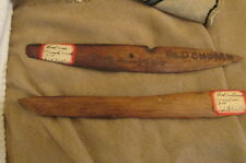 Antique 1800 Era Hand Carved Letter Openers Signed & Dated from a burned church