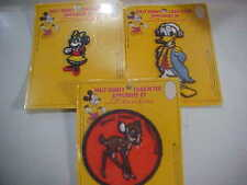 VINTAGE 3 nos WALT DISNEY  PRODUCTIONS PLUTO SEW ON  PATCH NEW IN PKG