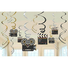 NEW Hollywood Party Hanging Swirl Decoration Birthday Party Favor Supplies-12pcs
