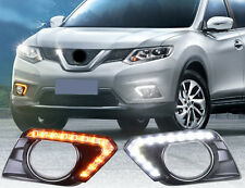 Daytime Running Light DRL Daylight Fog Light for Nissan Rogue X-Trail 2014-2016