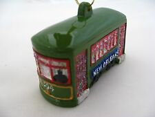 New Orleans Christmas ORNAMENT Street car Trolly cable favor Streetcar gift