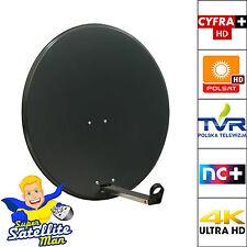 80cm Satellite Dish + Pole Mount For Polsat, Telewizja N, NC+ Cyfra Tehwiz HD