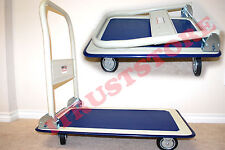 PORTABLE SMALL FOLDING FOLDED PLATFORM FLATBED HAND TRUCK HAUL HAULER CART WAGON