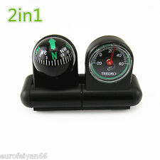 Good Quality Plastic 2in1 Vehicle Truck Interior Compass & Thermometer Guage Kit