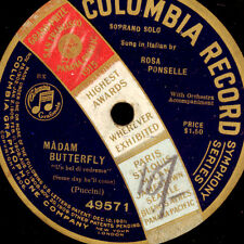 "ROSA PONSELLE ""Madame Butterfly"" Un bel di vedremo    1-seitig 78rpm  G3050"
