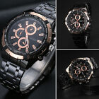 CURREN Rose Gold Black Men's Stainless Steel Analog Sport Quartz Wrist Watch New