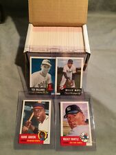 1991 Topps Archives Baseball Ultimate 1953 Reprint Complete 337 Card Set Mantle