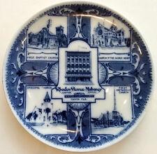 Antique c1910 TAMPA FLORIDA Souvenir China Plate RHODES PEARCE MAHONEY Flow Blue