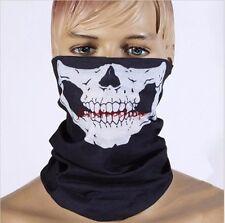 Halloween Props Half Face Bandana Skeleton Ghost Skull Face Mask Biker Balaclava