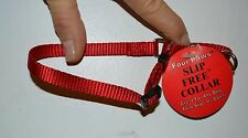 "XS Red Four Paws Slip Free Collar 3/8""  Neck Size 6"" to 10""  New with Tags"