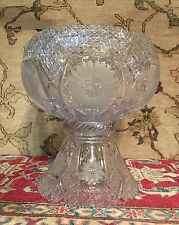 Elegant Antique 19th Century American Brilliant Cut Glass Crystal Punch Bowl
