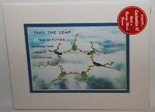"""8"""" x 10"""" Take the Leap Picture 2004 FirstLight Frogs - Portal Framed and Matted"""
