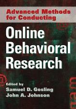 NEW - Advanced Methods for Conducting Online Behavioral Research
