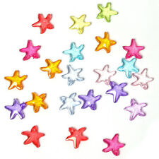 100pcs New Colorful Plastic Starfish Charms Spacer Beads L