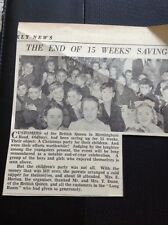 G2-1 ephemera 1953 Picture Oldbury British Queen Children Xmas Party