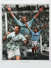 UWE ROSLER Signed 16x12 Photo MANCHESTER CITY LEGEND COA