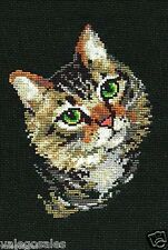 "Riolis Counted Cross Stitch Kit 8"" x 12"" ~ GREY CAT #766 Sale"