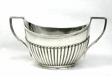 Early 20th C. Silver Plated Sugar Bowl Queen Anne Style Large Daniel & Arter