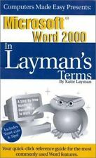 Microsoft Word 2000 In Layman's Terms