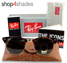 Ray Ban Clubmaster Unisex Sunglasses GOLD_TORTE_G15 CRYSTAL GREEN 3016 0366 51mm