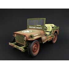 1/18 SCALE-AMERICAN DIORAMA (AD 77406A) US ARMY WWII JEEP MILITARY POLICE-DIRTY