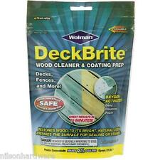 6 Pk 1# Powder Wolman DeckBrite Wood Deck Cleaner & Coating Prep 16001