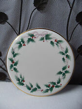 "Mikasa Christmas ""Ribbon Holly"" Bone China Cake Plate"