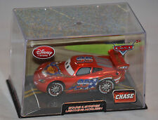NEW! Disney Store PIXAR Cars 2 Stars & Stripes Lightning McQueen Diecast CHASE