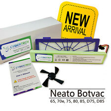 High Capacity 7200mAh Lithium Ion Battery for Neato Botvac 85 free Brush+Filter