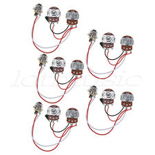 Wiring Harness Prewired Kit for Bass Guitar 250K Pots 1V 1T Jack Pack of 5