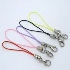 10 Mixed Colour Mobile Phone Lanyards / Bag Charms With Lobster Clasp.