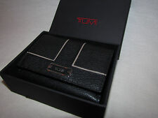 Tumi Womens Wallet Card Case Black Leather Chelsea Clutch Trifold Coin Purse