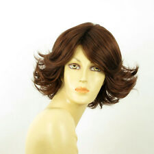 short wig for women dark brown copper ref FLORE 31 PERUK