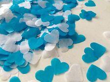 Turchese e Bianco Heart Wedding confetti-party tabella DECORAZIONI-Biodegradabile