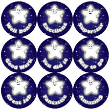 144 Night Star Praise Words 30mm Children's Reward Stickers for Teacher, Parent