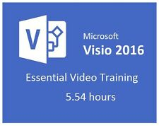 Learning Microsoft Visio 2016 Essential Video Training  5.54 hours