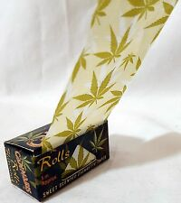 5pcs x Sweet Scent Weed Print Kingsize Slim Rolling Papers Rip 5m ROLL Rizla