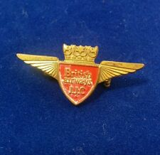 British Airways Airlines Junior Jet Club JJC Winged Red Shield Pin Badge Clasp