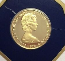 1976 British Virgin Islands Gold 100 Dollars 50th Birthday of Queen Elizabeth II