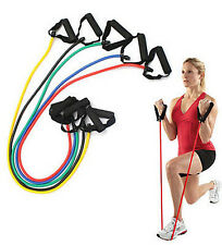 Resistance Band Stretch Fitness Latex Tube Cable Workout Yoga ~Random~1pc