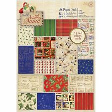 Letter To Santa, 32 Sheets Scrapbook Foiled Paper Pack DOCRAFT - New, PMA160918