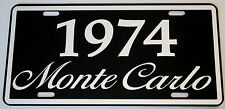 1974 74 MONTE CARLO METAL LICENSE PLATE 350 400 454 SS LOWRIDER CHEVY